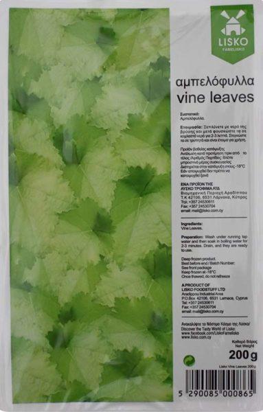 Fresh frozen vine leaves