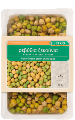 Fresh frozen green chick peas