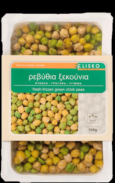 Fresh frozen green chick peas
