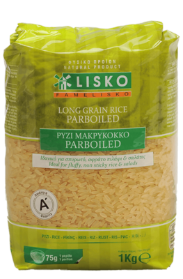 Long grain rice parboiled