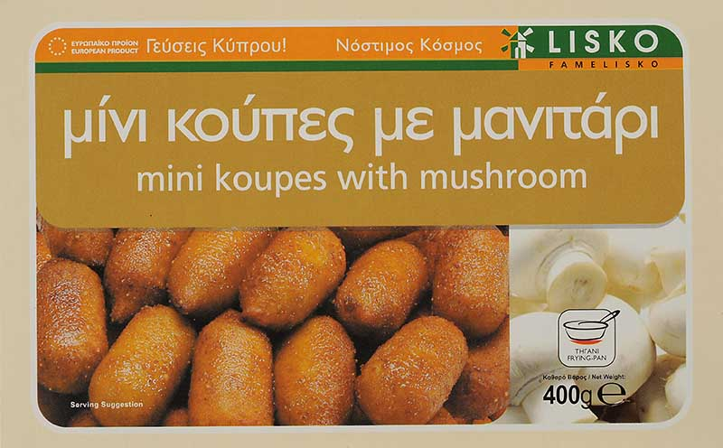 Mini koupes with mushroom