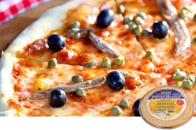Πίτσα με γραβιέρα και αντζούγιες