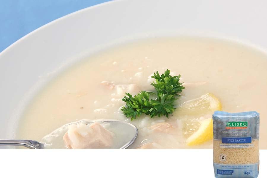Σούπα αυγολέμονη με κοτόπουλο
